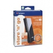 DISCO RIGIDO EXTERNO VERBATIM SUPERSPEED 500GB - USB3.0